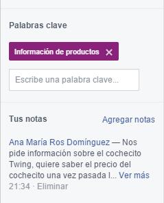 facebook atención al cliente notas