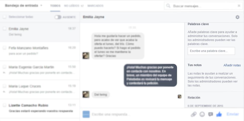 Facebook como atención al cliente