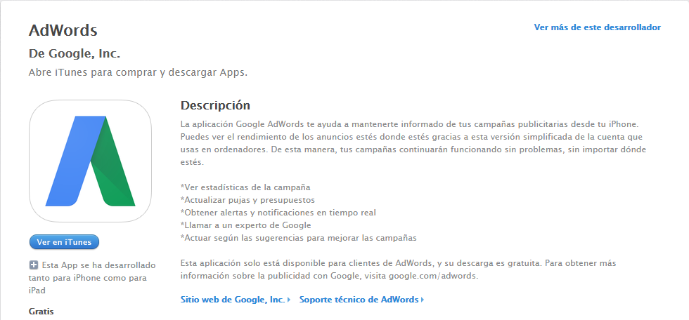 Adwords para Iphone
