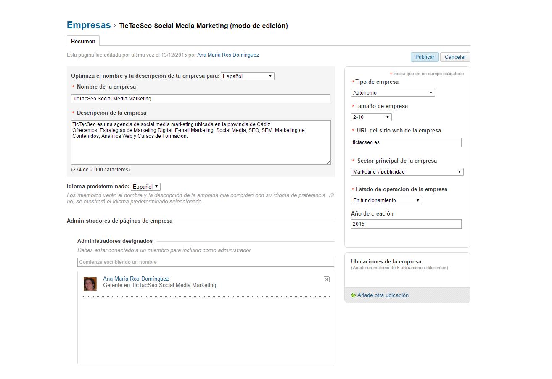 paso dos: como nombrar administrador en una pagina de empresa de linkedin