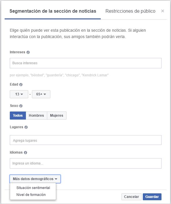 segmentar tus publicaciones en facebook con la ayuda de tictacseo