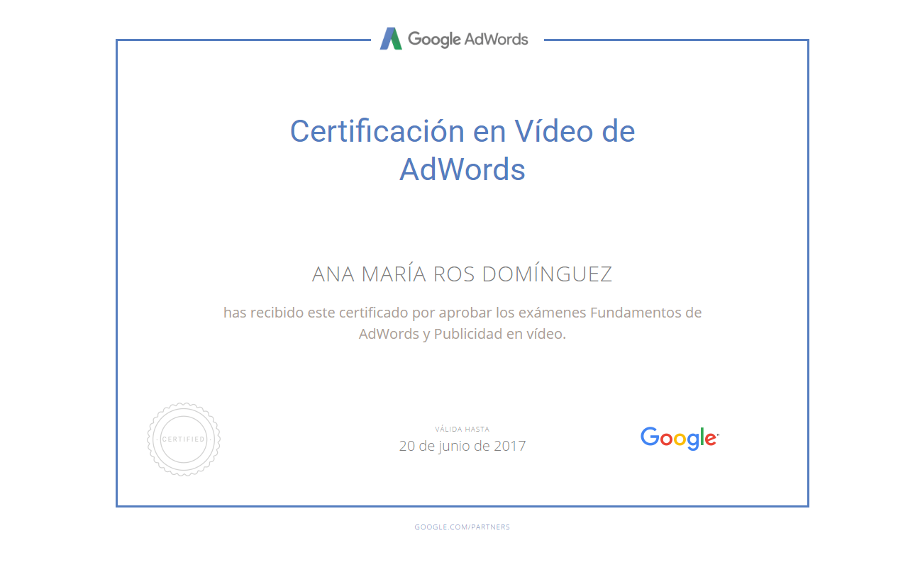 aprobar examen de adwords video