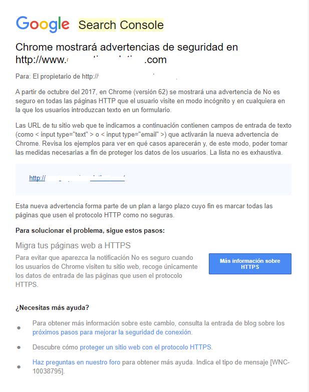 Google advierte a los sitios webs para migrar a https