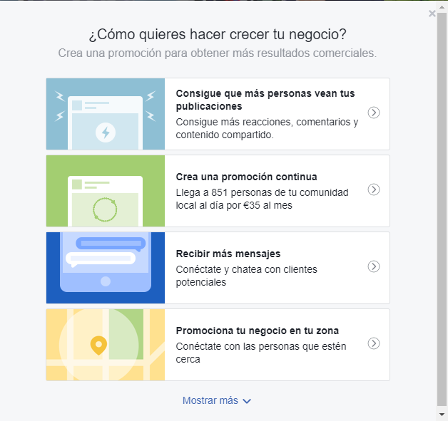 como acceder a las promociones continuas en facebook