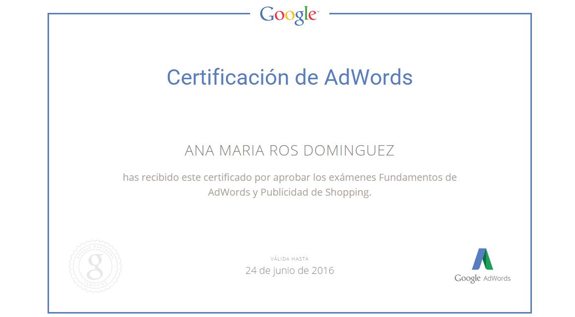 Diploma de certificación en Shopping