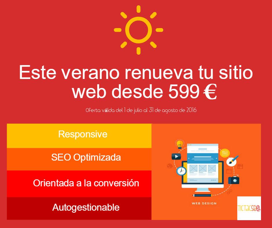 tu web desde solo 599 euros