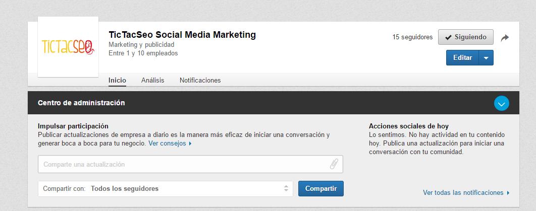 Primer paso: como nombrar administrador de una página de empresa en Linkedin