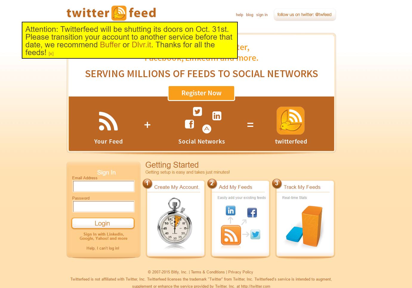 cierra twitterfeed una útil herramienta para community manager