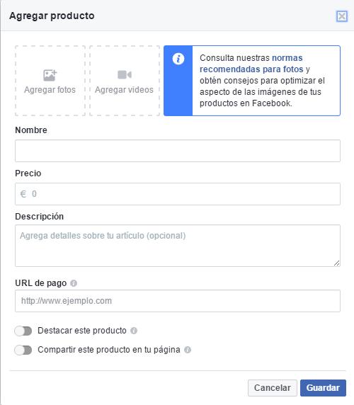 crear tu tienda en facebook aprende a subir producto