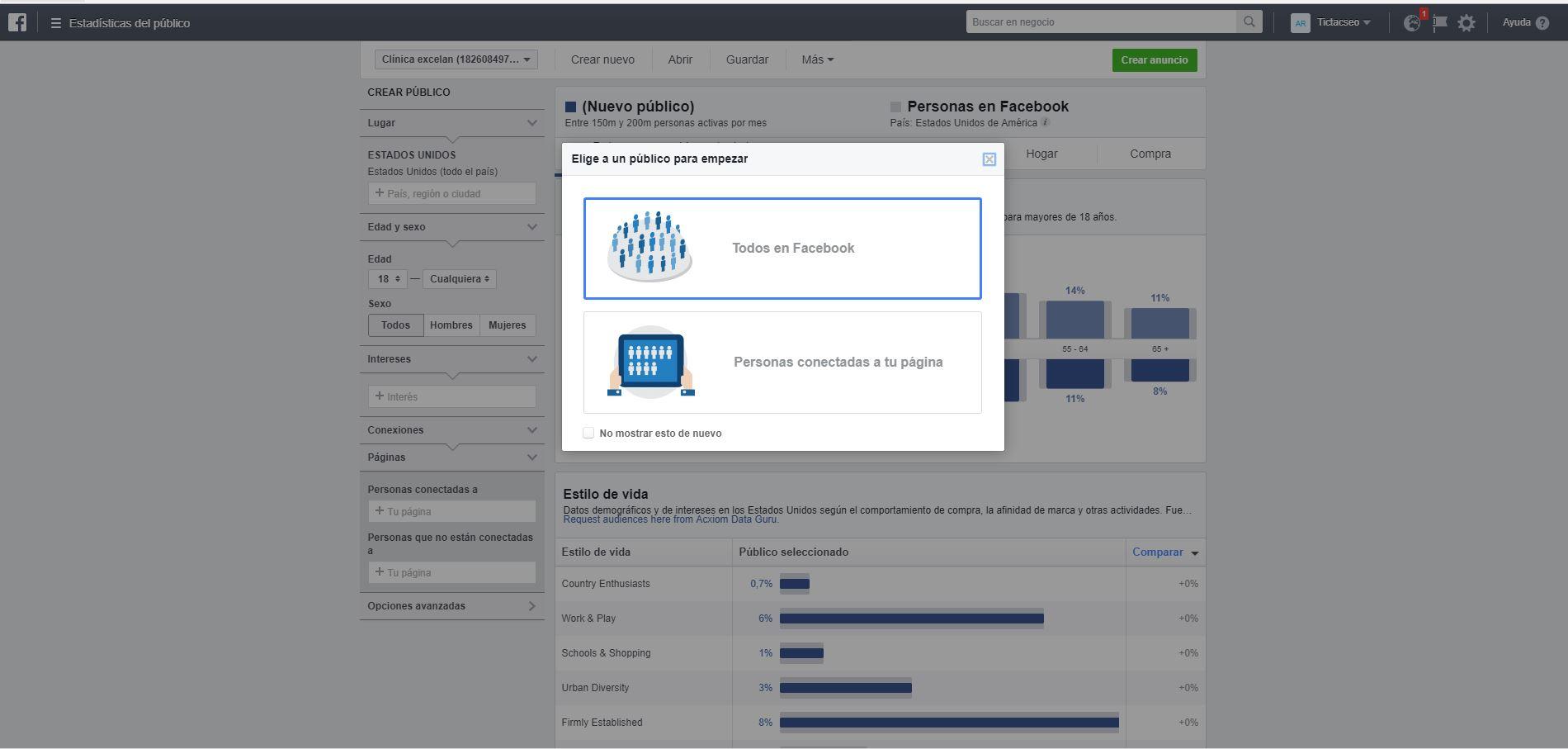 como utilizar las estadísticas de público en Facebook paso 1